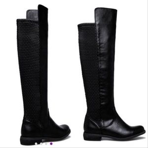 Sz 9 Black Mags Wide-Calf Boot